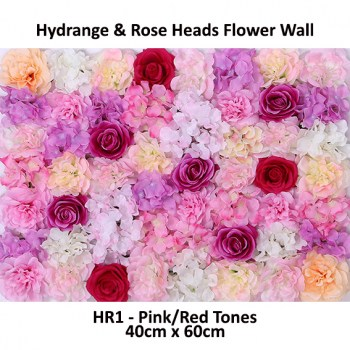 Hydrangea and Rose Flower Wall Panels for Sale