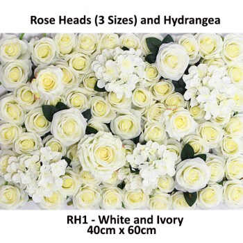 Roses and Hydrangea Flower Wall Panels For Sale Australia